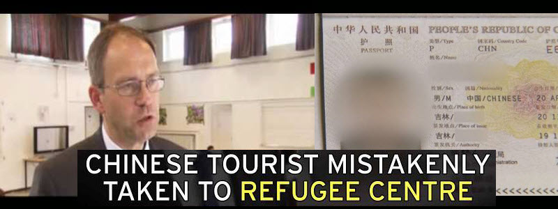 Chinese tourist ended up in german refugee camp